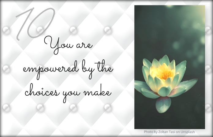 Inspirational quote & white lotus flower
