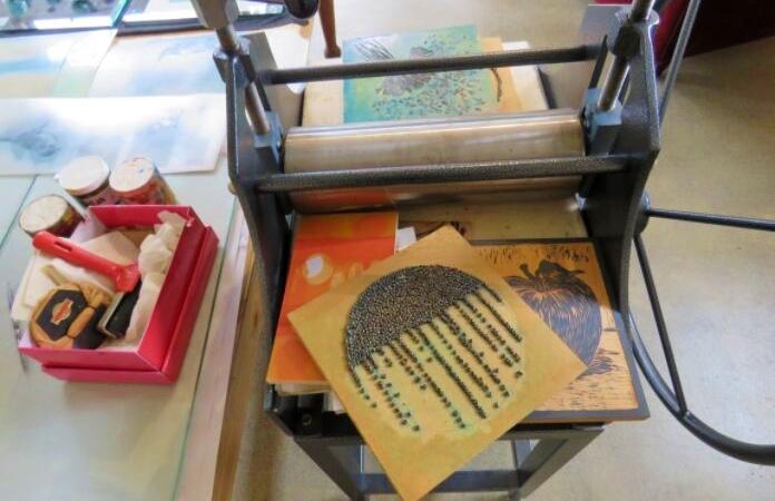 Emily Jackson's printing press