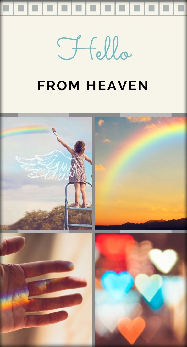 Hello from heaven Pin It! collage