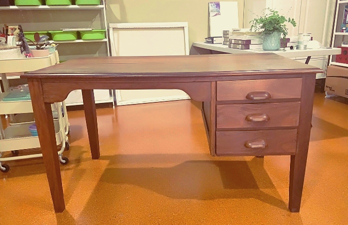 Wooden retro desk