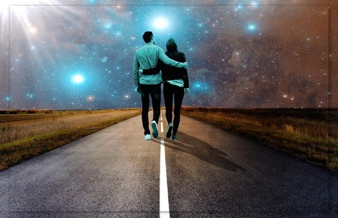 Friends walking a spiritual path