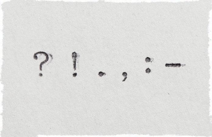 typed punctuation