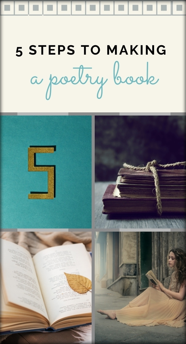 5 steps to making a poetry book Pin It! collage